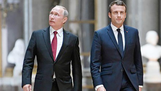Vladimir Putin, Emmanuel Makron