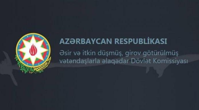 Əsir və itkin düşmüş, girov götürülmüş vətəndaşlarla əlaqədar Dövlət Komissiyası