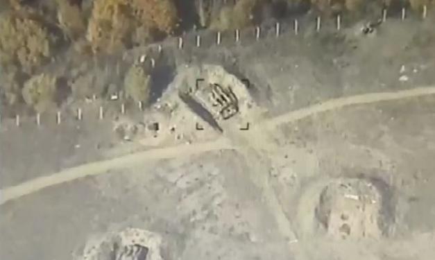 """Ermənistan ordusuna məxsus """"Kub"""" zenit-raket kompleksi məhv edilib - Video"""