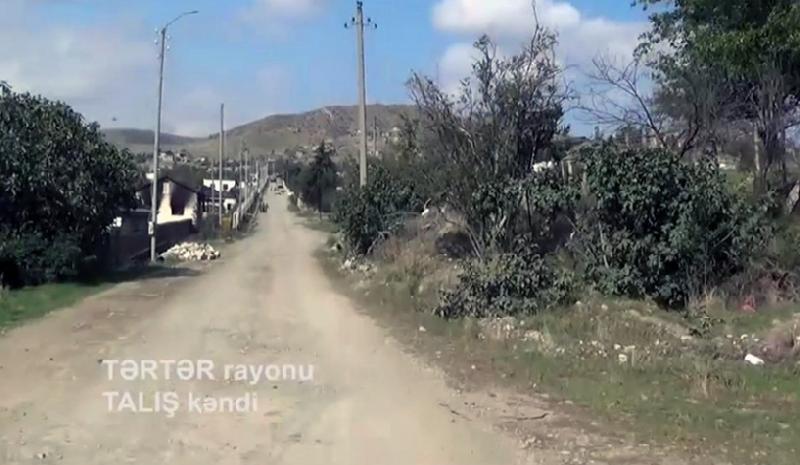 İşğaldan azad olunan Talış kəndinin videogörüntüsü yayılıb - Video