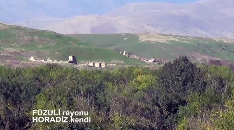 Füzulinin işğaldan azad edilən Horadiz kəndinin yeni videogörüntüsü - Video
