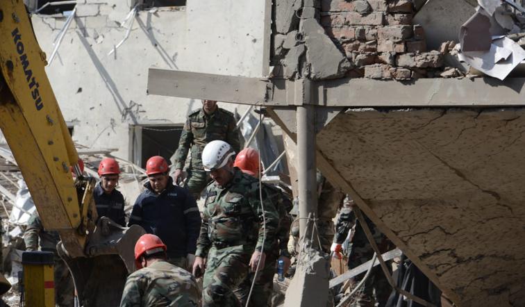Ermənistanın dövlət terroru törətdiyi Gəncə şəhərindən yeni görüntülər - Fotolar