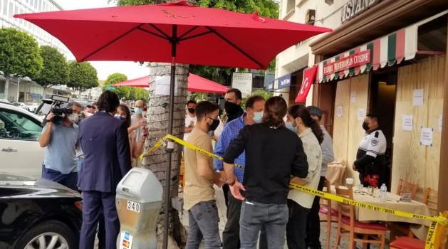 Ermənilər ABŞ-da türk restoranına hücum edib