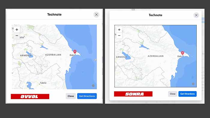 Azərbaycan xəritəsi Facebookda