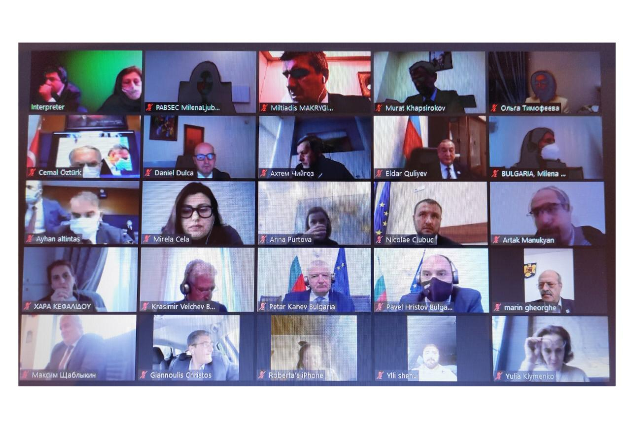 Qara Dəniz İqtisadi Əməkdaşlığı Təşkilatı Parlament Məclisinin videokonfrans formatında 56-cı plenar iclası keçirilib