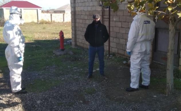Evlərini tərk edən koronavirus xəstələri saxlanıldı - Foto