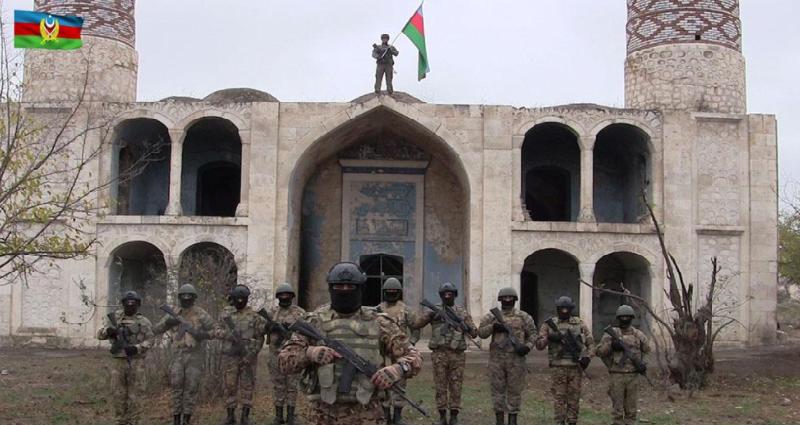 Azərbaycan Ordusu Ağdama bayrağımızı sancdı - Video