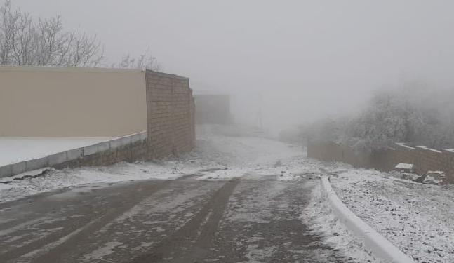 Azərbaycana qar yağdı - Foto
