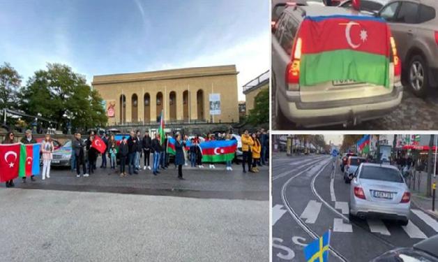Stokholm və Yöteborqda Azərbaycana dəstək məqsədilə avtoyürüş keçirilib