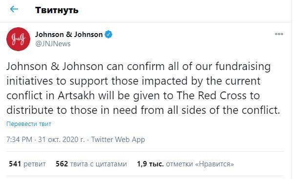 """""""Johnson&Johnson"""" şirkətinin separatçıları dəstəkləməsi etirazlara səbəb olub"""
