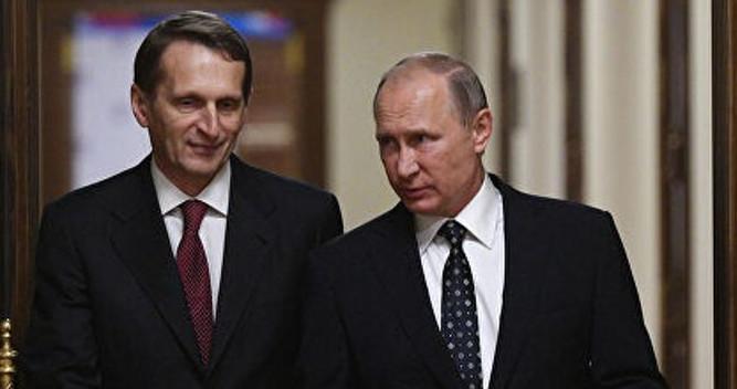 Serhey Narışkin və Vladimir Putin