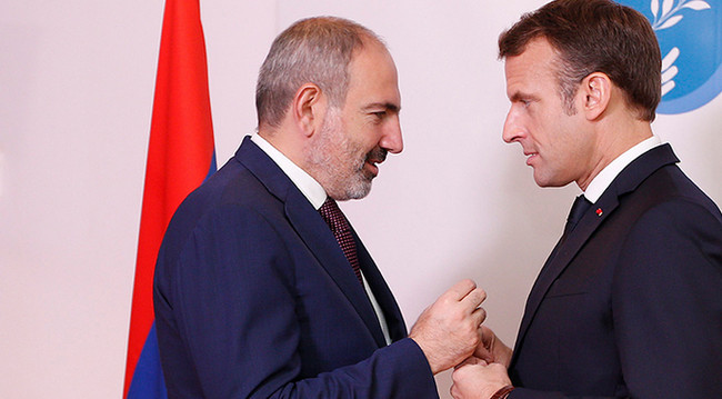Nikol Paşinyan və Emmanuel Makron