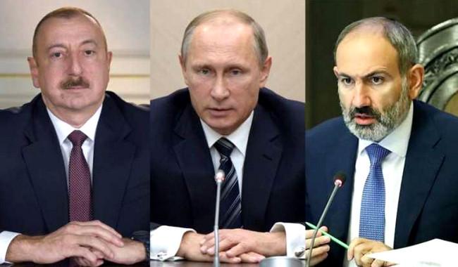 İlham Əliyev, Vladimir Putin və Nikol Paşinyan