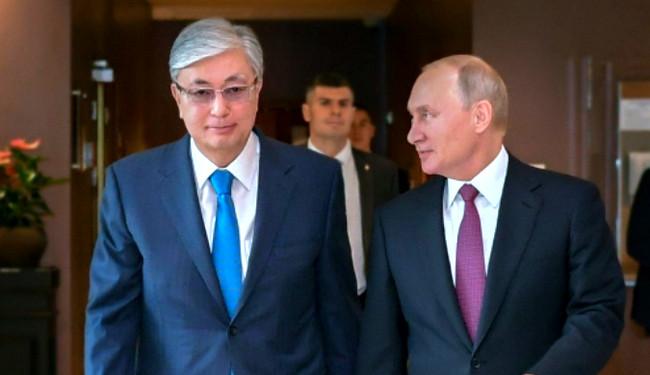 Rusiya və Qazaxıstan prezidentləri Moskvada görüşüb