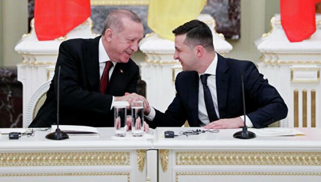 Rəcəb Tayyib Ərdoğan və Volodimir Zelenski