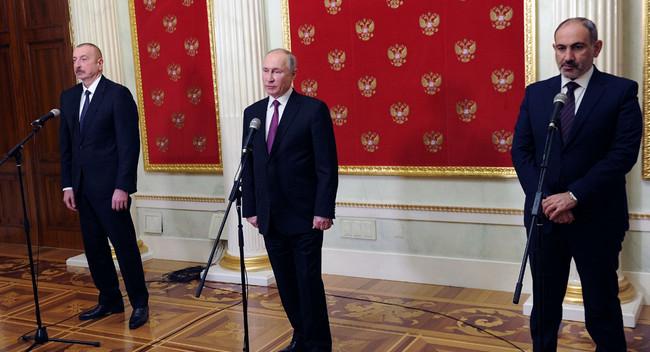 İlham Əliyev, Vladimir Putin, Nikol Paşinyan
