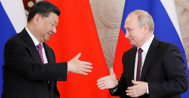 Çin KP baş katibi Si Tzinpin və Rusiya prezidenti Vladimir Putin