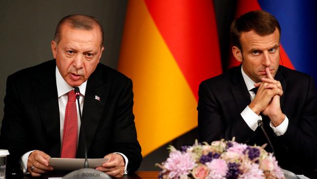 Rəcəb Tayyib Ərdoğan və Emmanuel Makron