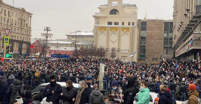 Rusiyada etirazlar, Novosibirsk, 22 yanvar, 2021