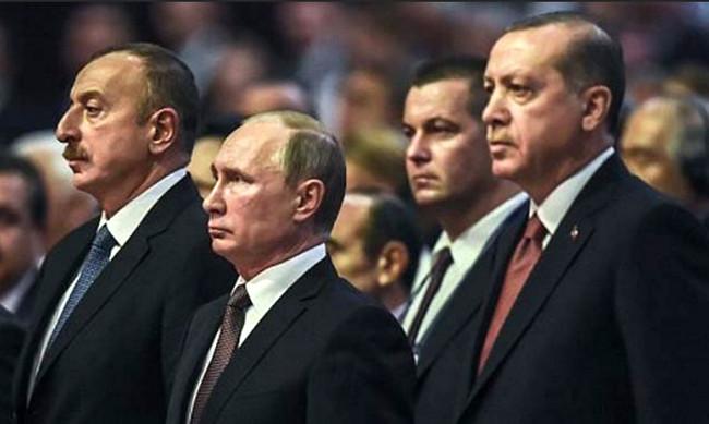 İlham Əliyev, Vladimir Putin, Rəcəb Tayyib Ərdoğan