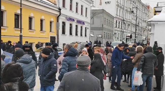 Ermənilərin  etiraz aksiyası - Moskva