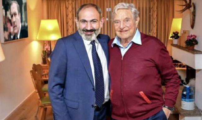 Nikol Paşinyan və Corc Soros