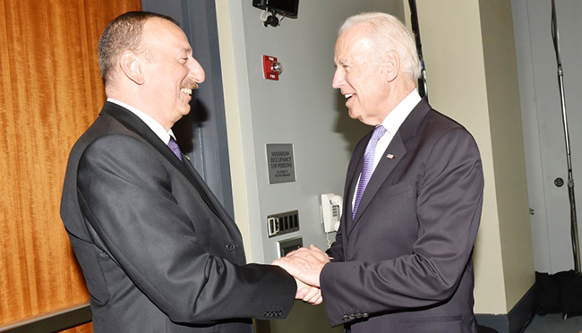 İlham Əliyev  və Co Bayden