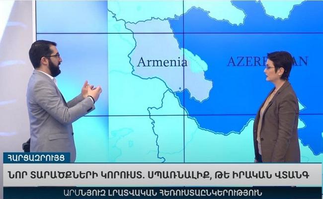 Ermənistan televiziyasının yaydığı Azərbaycan xəritəsi