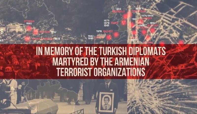 Türkiyə Prezidenti Administrasiyasının Kommunikasiya İdarəsi erməni terrorunu əks etdirən videoçarx hazırlayıb - Video