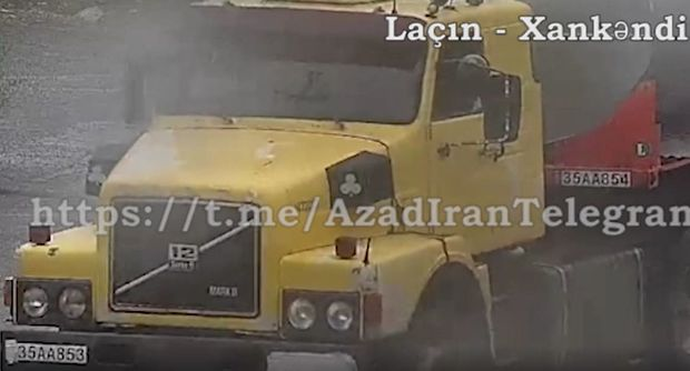 Iranın Qarabağa gedən yük maşını