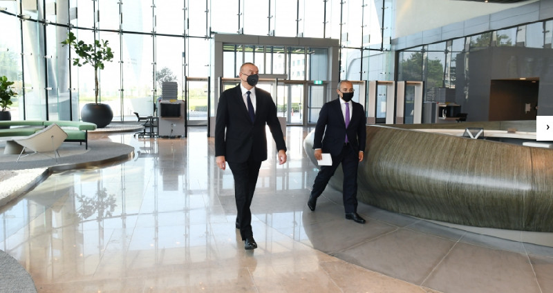 Prezident İlham Əliyev İqtisadiyyat Nazirliyinin yeni binasının açılışında iştirak edib