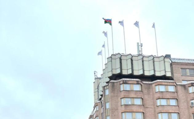 Stokholmda Azərbaycan Bayrağı ucaldılıb - Foto