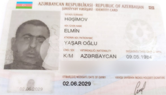 Həşimov Elmin Yaşar oğlu