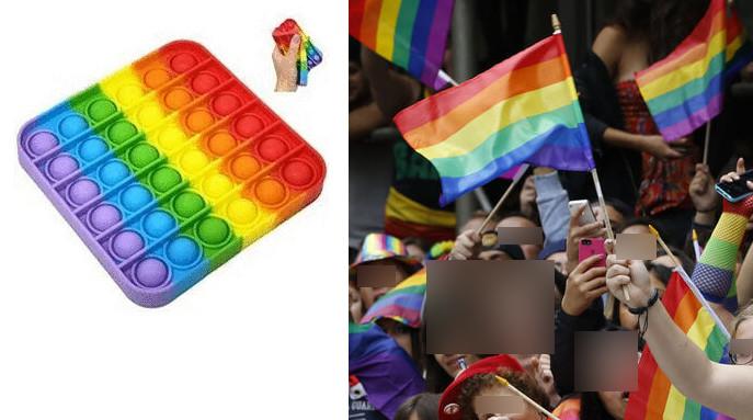 Bakıda cinsi azlıqların bayrağını əks etdirən oyuncaq
