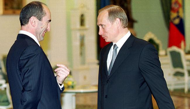 Robert Koçaryan və Vladimir Putin