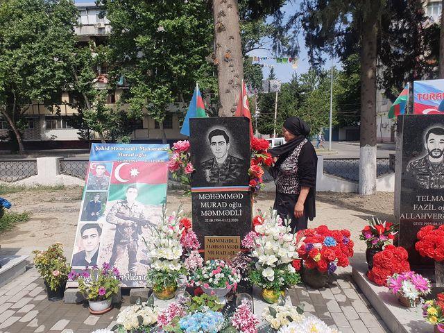 Vətən Müharibəsi Şəhidi Məmmədli Məhəmməd Murad oğlunun məzarı