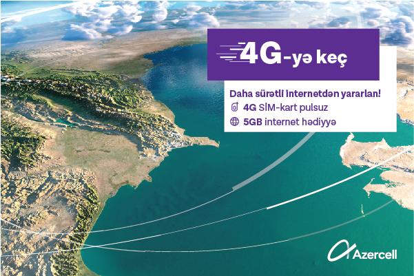 100 mindən çox Azercell abunəçisinə 5GB aylıq internet paketi hədiyyə olunub