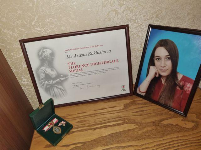Vətən Müharibəsinin yeganə qadın şəhidi Arəstə Baxışova beynəlxalq medala layiq görülüb