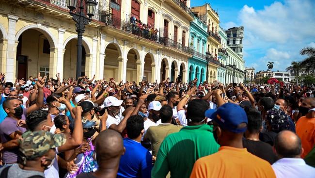 Etiraz aksiyası, Havana, Kuba