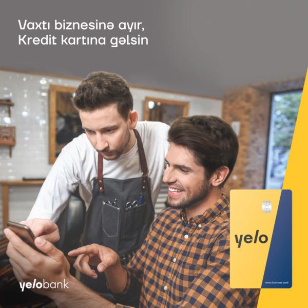 Mikrokreditlər Yelo Bankda daha sürətlidir