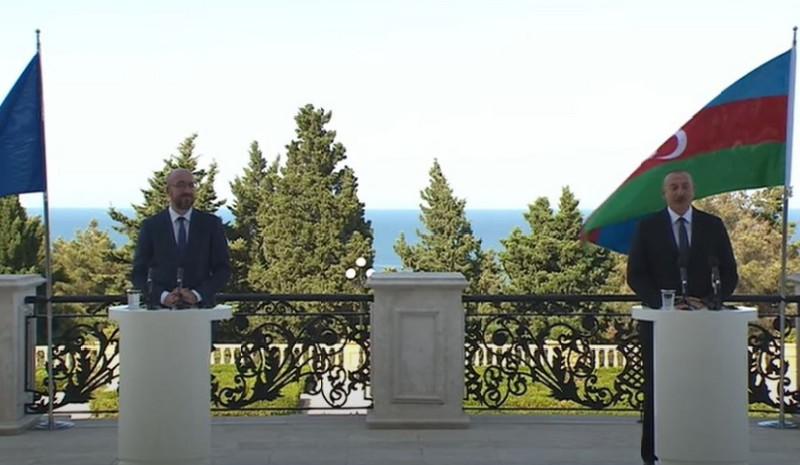 Şarl Mişel, İlham Əliyev
