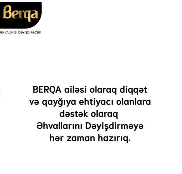 """""""Berqa""""dan """"Əhvalınızı dəyişdirəcək"""" layihəsi"""