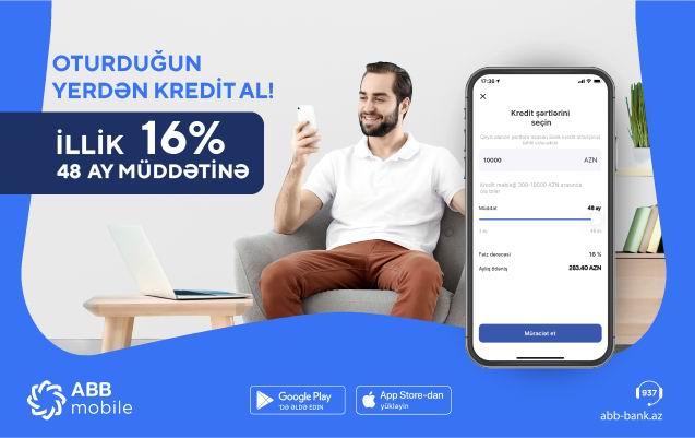 48 aylıq kredit indi 16%-lə