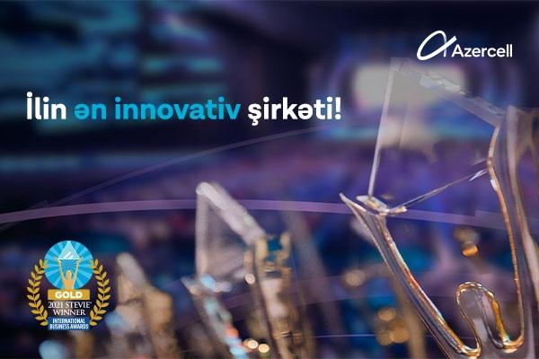 """""""Azercell Telecom"""" MMC 2021-ci il üzrə STEVİE Beynəlxalq Biznes Mükafatlarının qızıl laureatı oldu"""