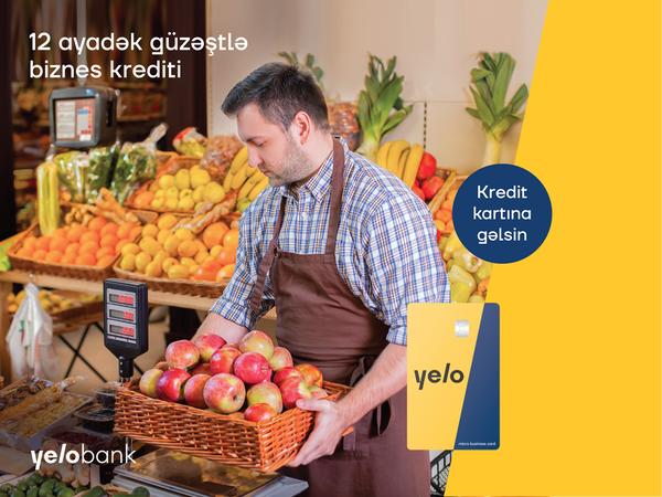 12 ayadək güzəştli biznes krediti kartınıza gəlsin