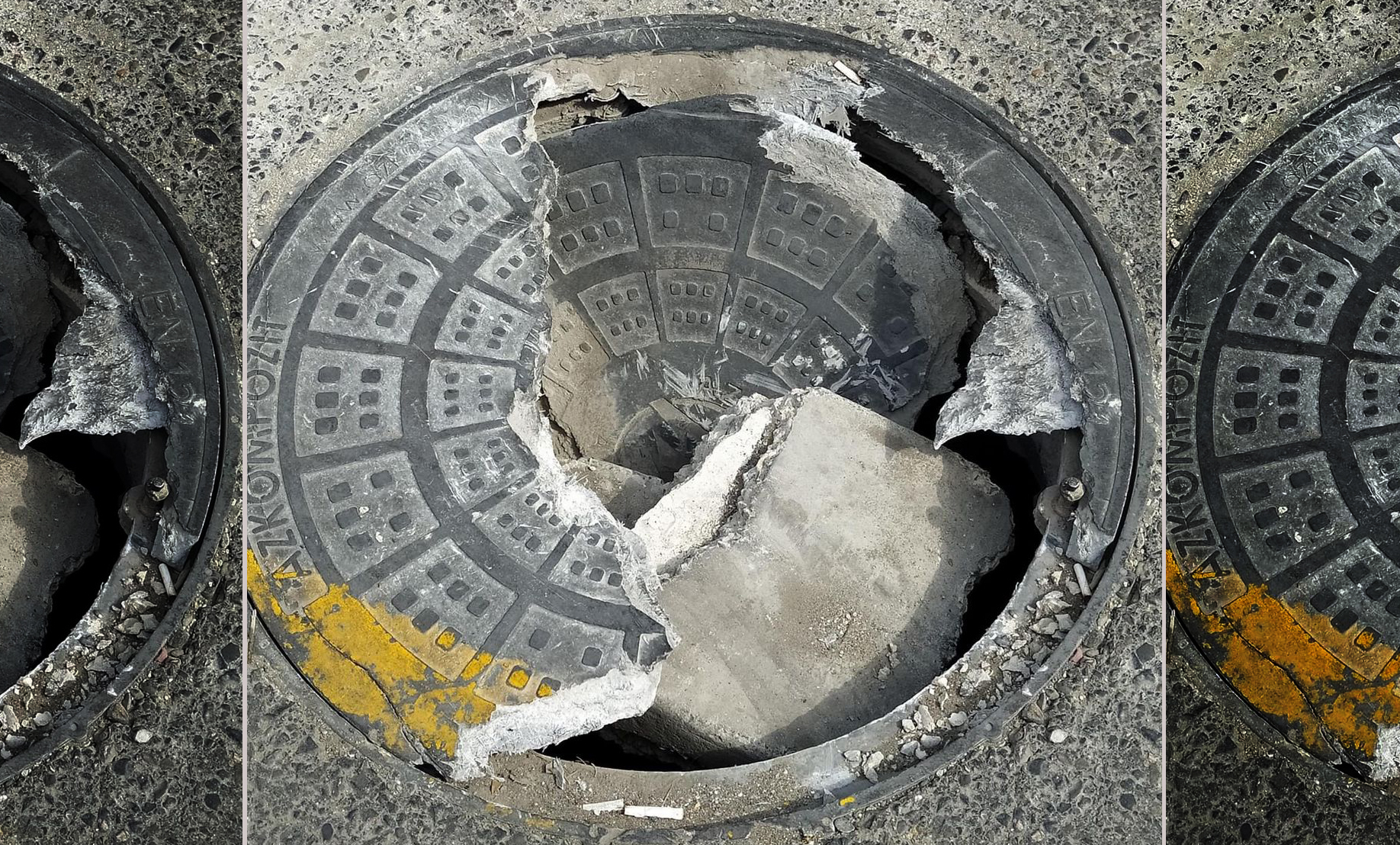 Xırdalanda preslənmiş kartondan kanalizasiya qapağı
