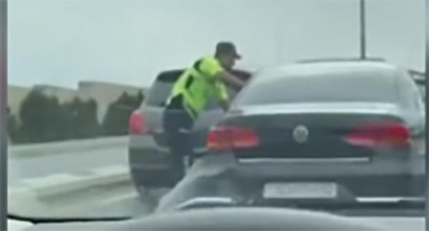 Maşınları əzərək polisdən qaçan avtoxuliqan saxlanılıb - Video