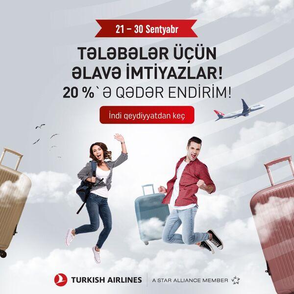 Türk Hava Yollarından tələbələr üçün kampaniya