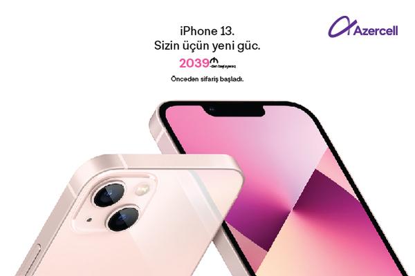 Azercell-dən iPhone 13, iPhone 13 Pro və iPhone 13 Mini əldə edin və 3 ay ərzində  50GB pulsuz mobil internetdən yararlanın!