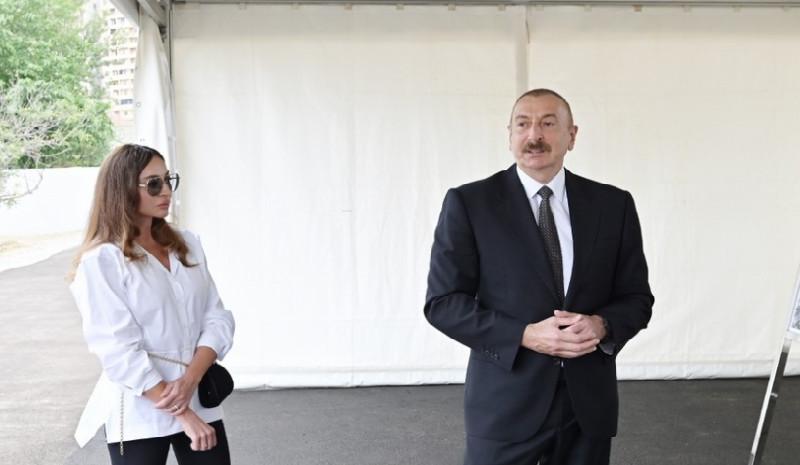 İlham Əliyev və Mehriban Əliyeva Zooloji Parkın açılışında iştirak ediblər